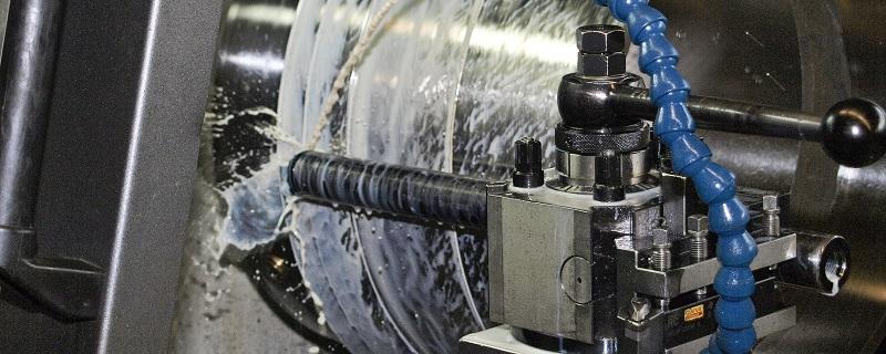 Drehmaschine Arbeitsspindel einstellen
