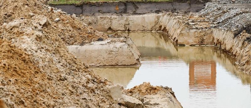 Pfusch am Bau durch Wasser
